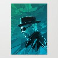 heisenberg Canvas Prints featuring Heisenberg by mobokeh