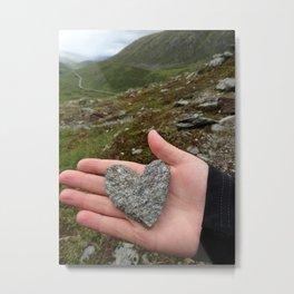 Heart in Hand Metal Print