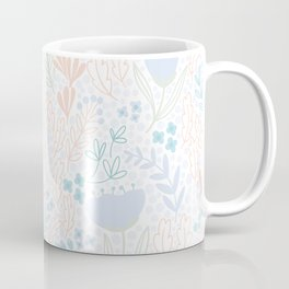 Floral Pattern #1 | Blue and Peach Coffee Mug