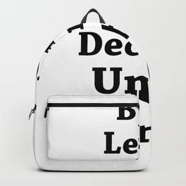 Hands up, its weekend Backpack