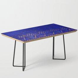 -A5- Royal Calm Blue Bohemian Moroccan Artwork. Coffee Table