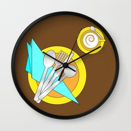 Modern table setting for one Wall Clock