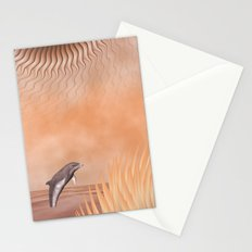 Happy Dolphin in a fantasy World Stationery Cards
