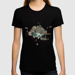 Collage City Mix 2 T-shirt