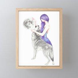 Reach For The Moon Framed Mini Art Print