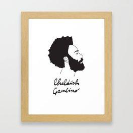 Childish Gambino - Minimalist profile portrait Framed Art Print