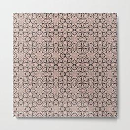 Pale Dogwood Geometric Metal Print