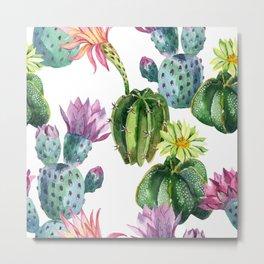 Watercolor desert cactus Metal Print