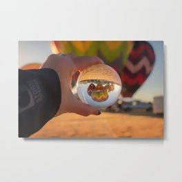 A Clearer View refraction photgraphy hot air balloons Metal Print