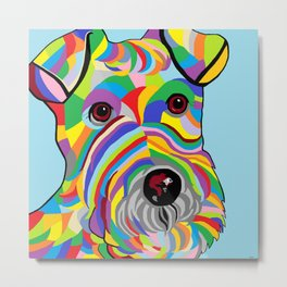 Wire Fox Terrier Metal Print