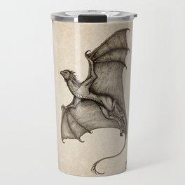 """Hurricane Wyvern"" by Amber Marine, Ink & Graphite Dragon Art, (Copyright 2016) Travel Mug"
