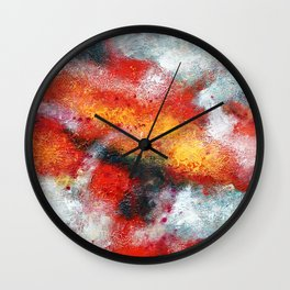 Clouded Red Wall Clock