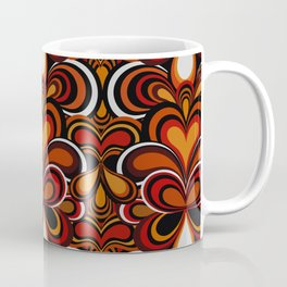 70s retro Psychedelic Pattern orange Coffee Mug