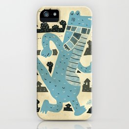 Gator Goes for a Stroll iPhone Case