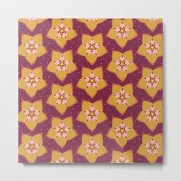 Hoya Gold Metal Print