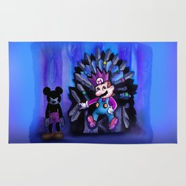 Mario and Mouse in Iron Throne Rug