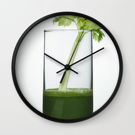 Green juice Wall Clock