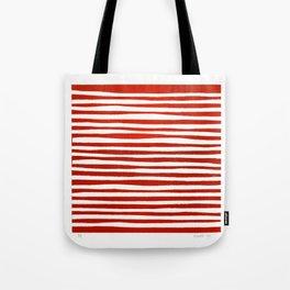 Waterline Pattern in Red Tote Bag