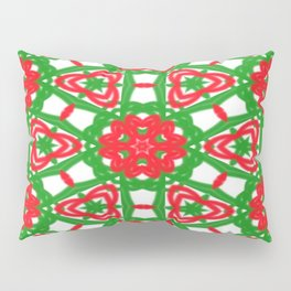 Red, Green and White Kaleidoscope 3372 Pillow Sham