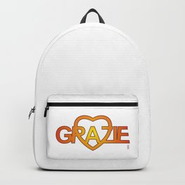 GRAZIE DI CUORE yellow Backpack