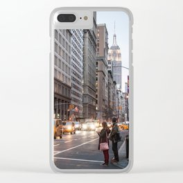 Midtown Manhattan in the Evening Clear iPhone Case