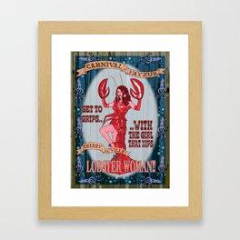 Lobster Girl Framed Art Print