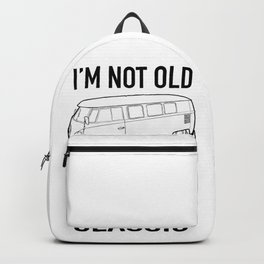I'm not old I'm just a classic vintage VW Bus  Backpack