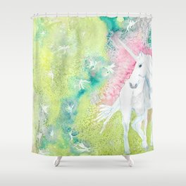 Unicorn and the Faries Shower Curtain