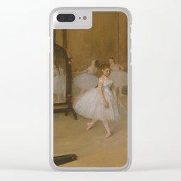 Edgar Degas - The Dancing Class Clear iPhone Case
