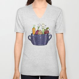 Vegetable Soup Unisex V-Neck