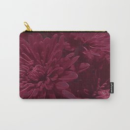 Burgundy Chrysanthemums Carry-All Pouch