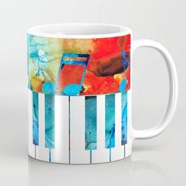 Colorful Piano Art by Sharon Cummings Coffee Mug