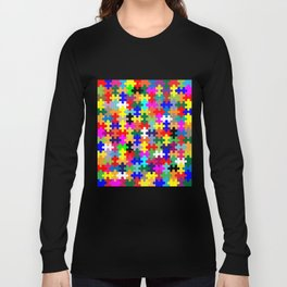 Jigsaw Pieces In Colour Long Sleeve T-shirt