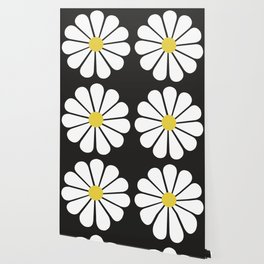 Daisy pattern Wallpaper