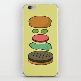 Bob's Burgers Hamburger Parts iPhone Skin