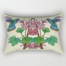 Graphic Art Hummingbirds Twin Rectangular Pillow