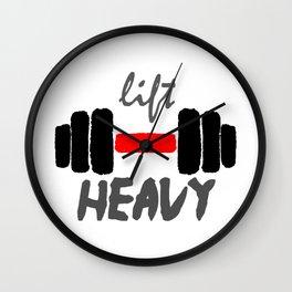 Lift Heavy - Weight Gainz Gymrat Workout Wall Clock