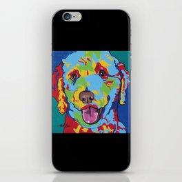 Labradoodle or Goldendoodle Pop Art Dog Pet Portrait iPhone Skin