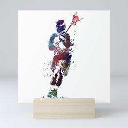 Lacrosse player art 2 Mini Art Print