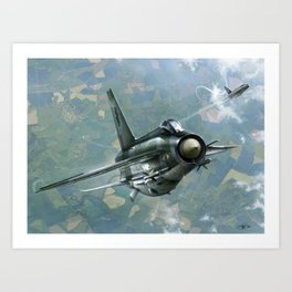 RAF Lightning Jet Art Print
