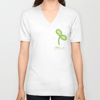 plant V-neck T-shirts featuring Plant by Kitastrofe