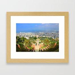 Bahai Gardens Framed Art Print