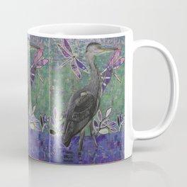 Heron stands in the Dee Coffee Mug