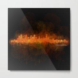 Houston City Skyline Hq v4 DARK Metal Print