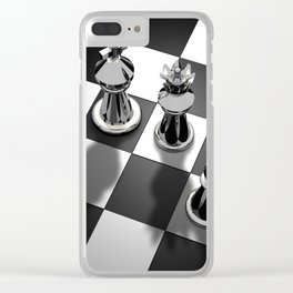 Chess 2 Clear iPhone Case
