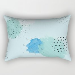 Abtract paint in light blue Rectangular Pillow