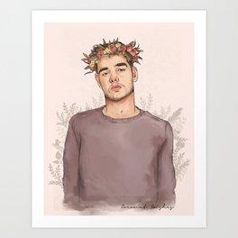 Flower crown Liam Art Print