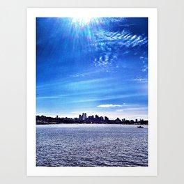 Seattle Lake Landscape Art Print