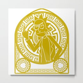 Rick; Stained Glass Metal Print