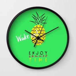 Fresh summer, wake up with ananas Wall Clock